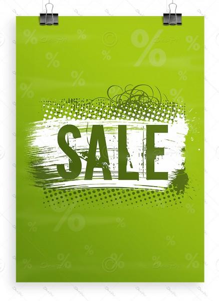 Werbeplakat - SALE, Werbeposter, Erbsengrün, DIN A1, P0004F