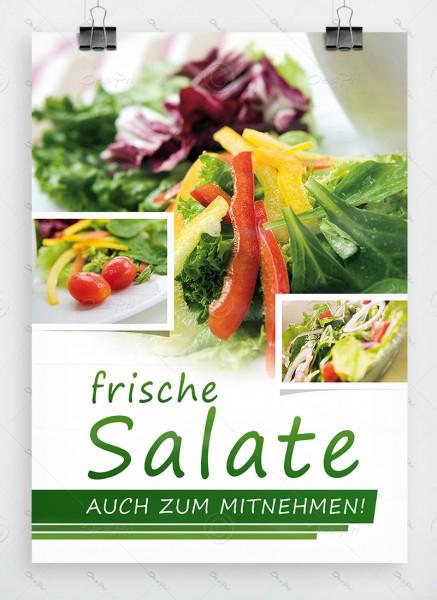 Frische Salate auch zum Mitnehmen, Plakat by Despri, DIN A1, P0068
