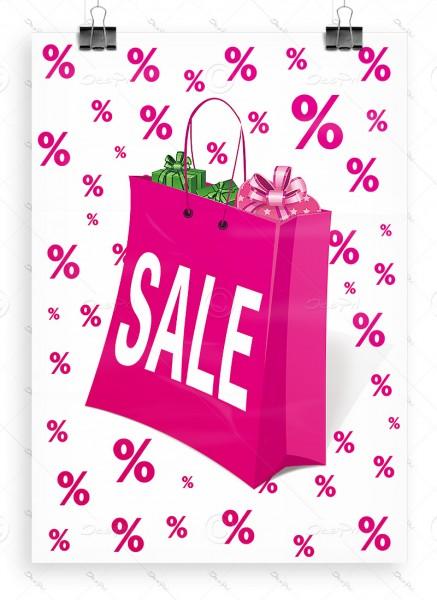 Werbeplakat - SALE, Werbeposter, Pink, DIN A1, P0007