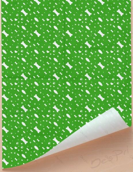 Geschenkpapier - Tierwelt - Grün-Weiß, 68 cm x 98 cm, GP0001C ab 100 Stück
