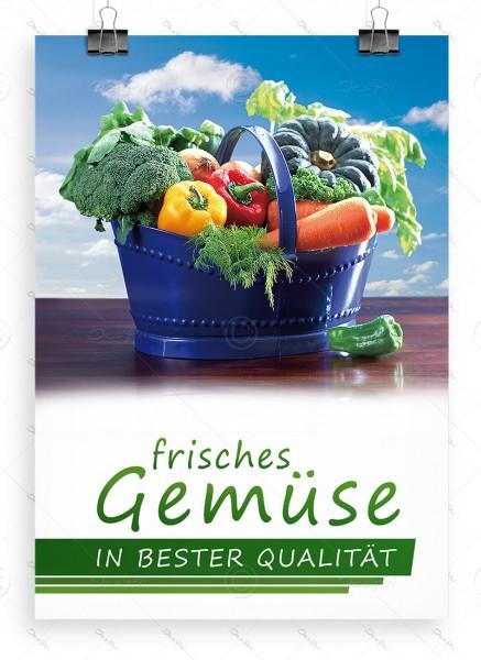 Frisches Gemüse in bester Qualität, Werbeplakat by Despri, DIN A1, P0070