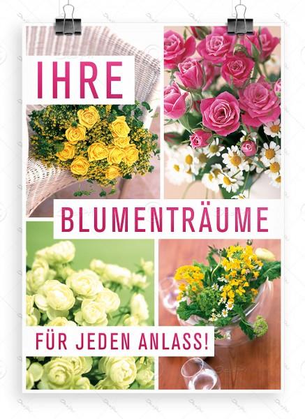 Ihre Blumenträume für jeden Anlass! - Despri Plakat, DIN A1, P0049