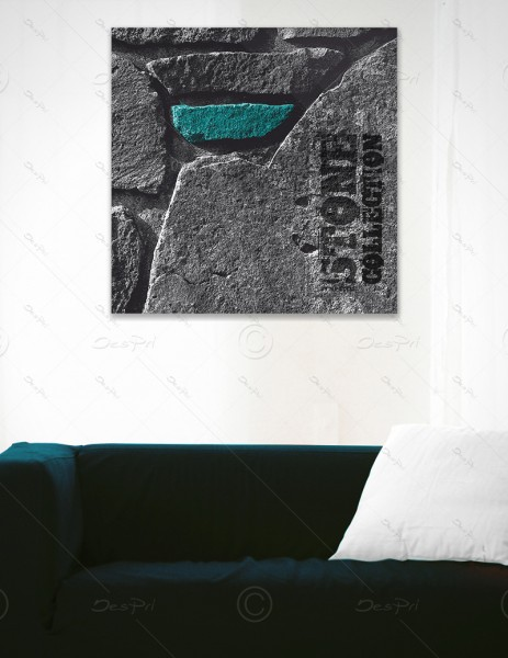 Leinwandbild - Turquoise Stone, Stone collection by MP-STYLE, Keilrahmen, LB-FP-0003A