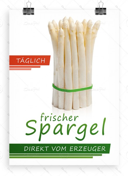 Werbeplakat - Täglich frischer Spargel direkt vom Erzeuger, DIN A1, P0093