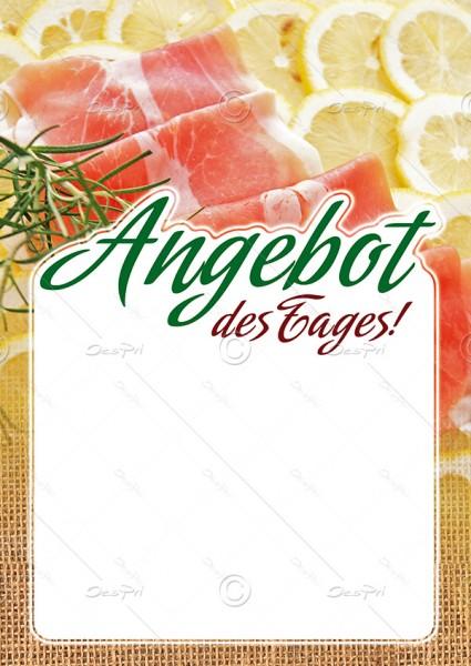 Preisschilder mit Textfeld - Angebot des Tages! Metzgerei, F0019, 25er Set