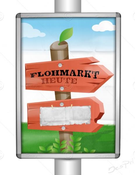 Flohmarkt Heute - Werbeplakat, Poster mit Textfeld, DIN A1, P0015