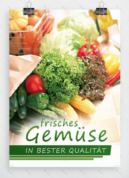 Frisches Gemüse in bester Qualitaet, Werbeplakat by Despri, DIN A1, P0098