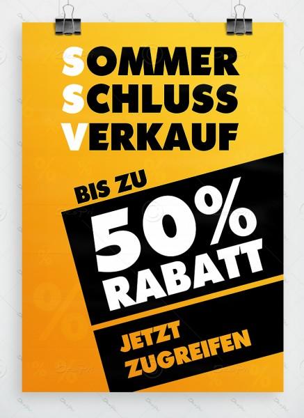 SSV - Sommerschlussverkauf - Werbeplakat, gelb, DIN A1, P0001