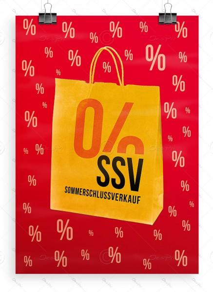 SSV Plakat DIN A1 - Sommerschlussverkauf, rot, P0056