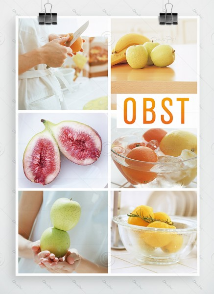 Obst - Plakat, Werbeplakat, Poster, DIN A1, P0010