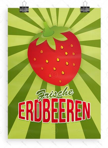 Frische Erdbeeren - Plakat - Poster, DIN A1, P0025
