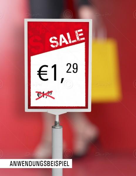 Preisschilder, Werbeschilder - SALE, mit Textfeld, F0004, Rot