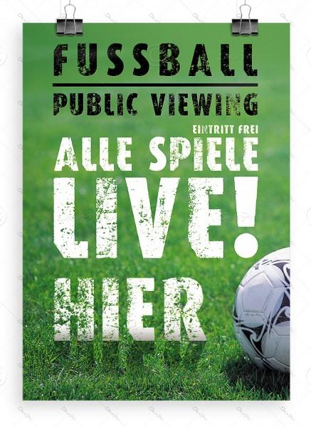 Fussball Public Viewing - Webeplakat, Poster, DIN A0, P0031