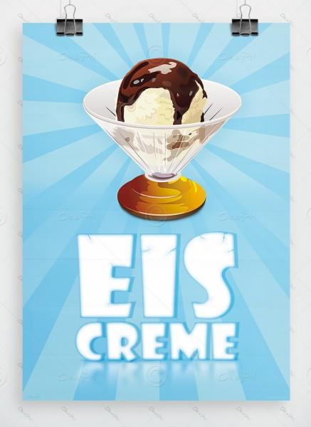 Eiscreme - Plakat DIN A1, Poster, P0021 - Eiscafe Werbung