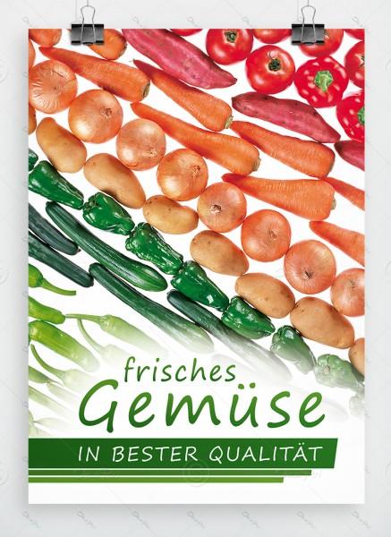 Frisches Gemüse in bester Qualitaet, Werbeplakat by Despri, DIN A1, P0097