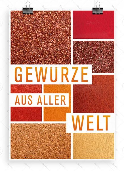 Gewürze aus aller Welt - Werbeplakat, Poster, DIN A1, P0065