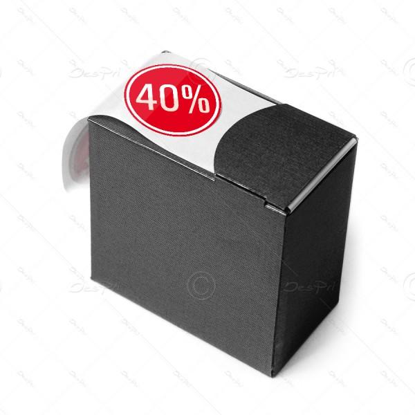 Etiketten auf Rolle, bedruckt - 40%, Rund, Rot, E0007, Spendebox