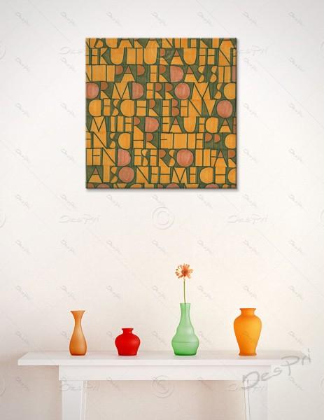 Leinwandbild - Schriftteppich, art collection, mit Keilrahmen, LB-FP-0009A