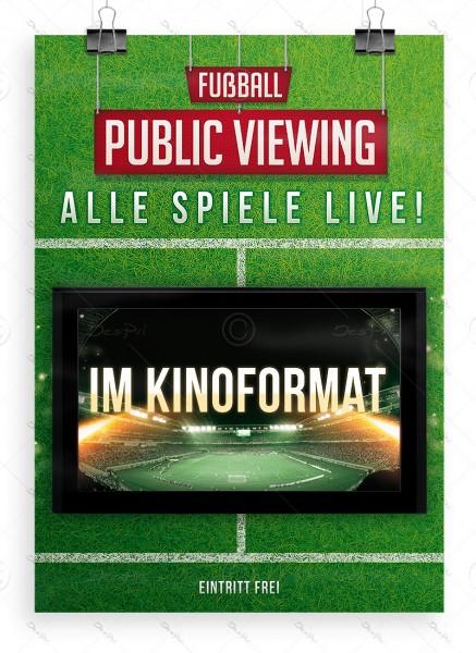 Fussball - Public Viewing - Alle Spiele LIVE! Plakat, DIN A1, P0034