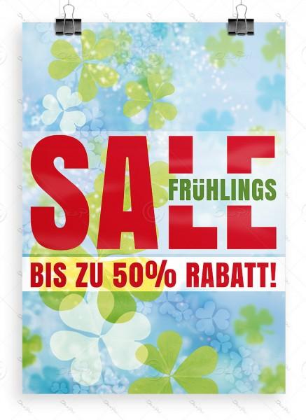 Werbeposter - Frühlings SALE - bis zu 50% Rabatt! Werbeplakat, DIN A1, P0090A