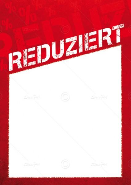 Preisschilder, Werbeschilder - Reduziert, mit Textfeld, F0012, Rot, 25er Set