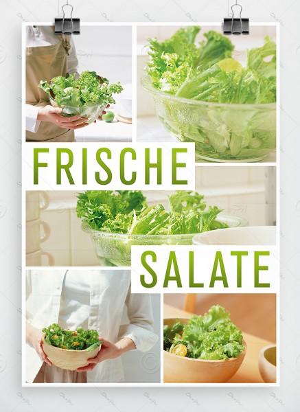 Frische Salate - Werbeplakat, Poster, DIN A1, P0009