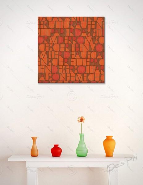 Leinwandbild - Schriftteppich, art collection, mit Keilrahmen, LB-FP-0009
