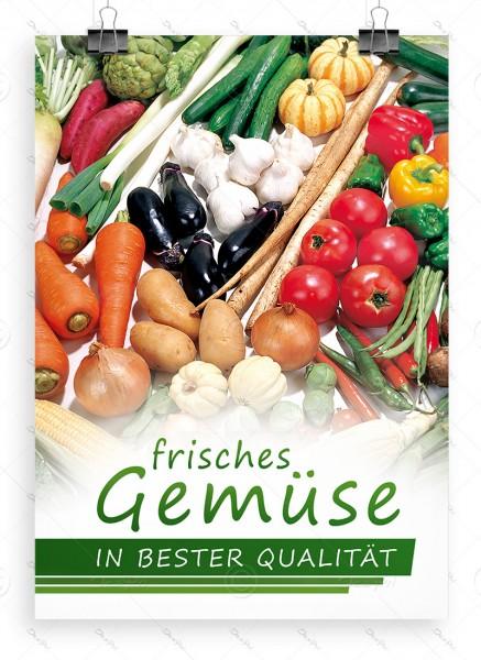 Frisches Gemüse in bester Qualitaet, Werbeplakat by Despri, DIN A1, P0080