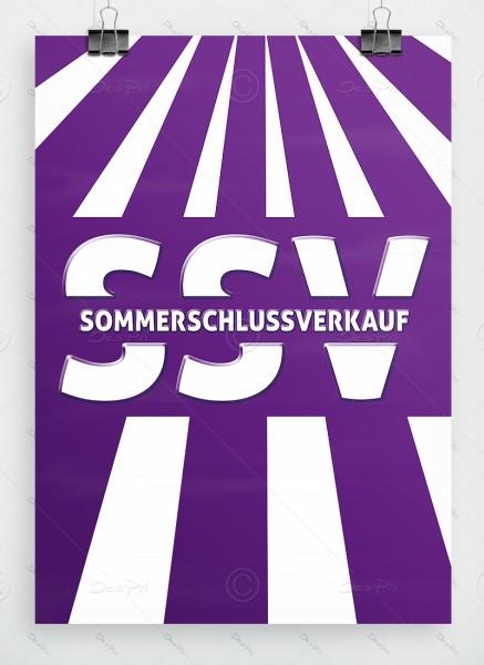 SSV - Sommerschlussverkauf - Plakat DIN A1, violett, P0045B