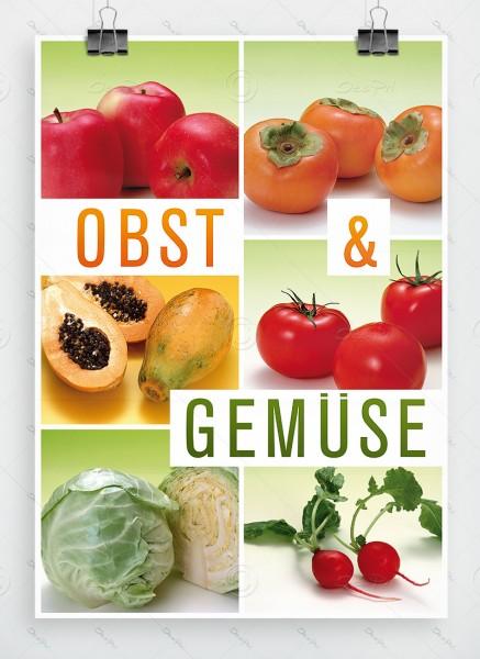 Obst und Gemüse - Plakat, Werbeplakat, Poster, DIN A1, P0012