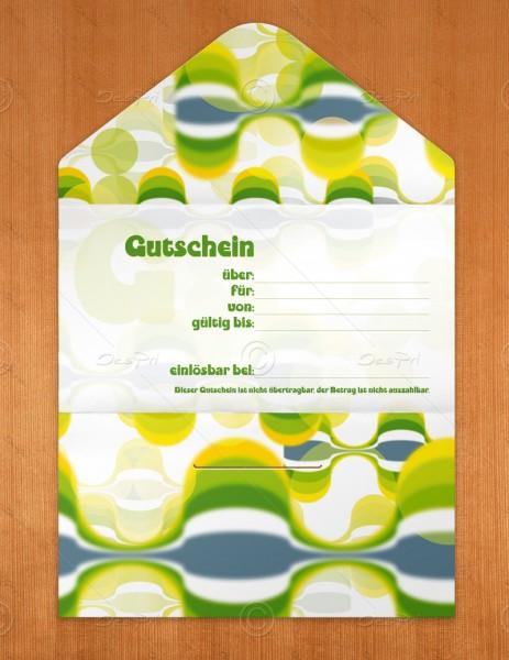 Gutscheinkarte klassisch, 50 Stück, Geschenkgutschein, pop art look, 19x10 cm, G0005