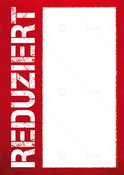 Preisschilder, Werbeschilder - Reduziert, Flyer mit Textfeld, F0002, Rot, 25er Set