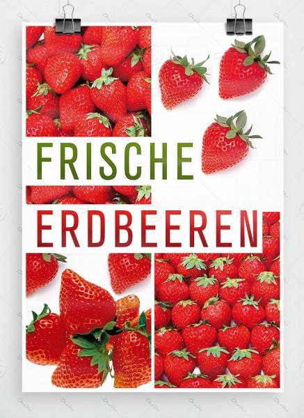 Frische Erdbeeren - Plakat - Poster, DIN A1, P0024