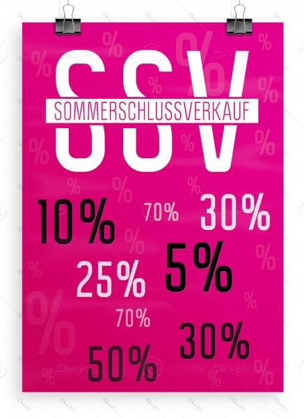 SSV Plakat DIN A1 - Sommerschlussverkauf, pink, P0050A
