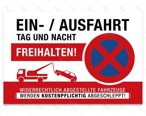"""Schild """"Einfahrt freihalten"""" Hinweisschild, S0005, Aluverbund, 3 mm, 30x20 cm, UV-Lack"""