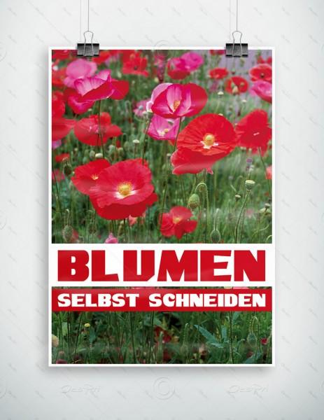 Blumen selbst schneiden - Werbeplakat by Despri, DIN A1, P0083