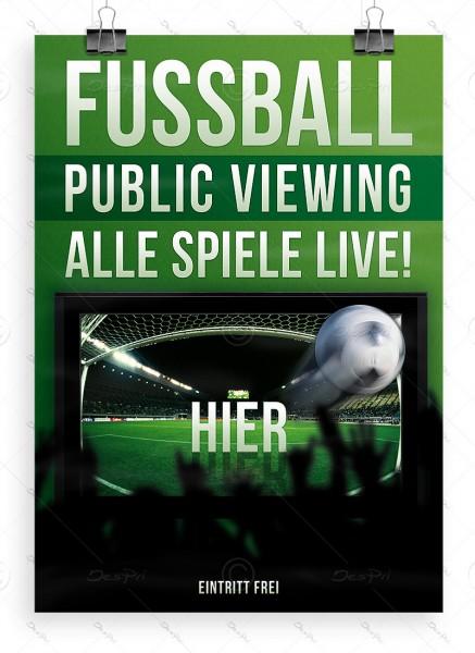 Fussball - Public Viewing - Alle Spiele LIVE! - Plakat, DIN A1, P0032