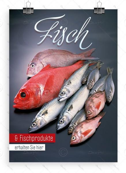 Fisch und Fischprodukte - Werbeplakat by Despri, DIN A1, P0081
