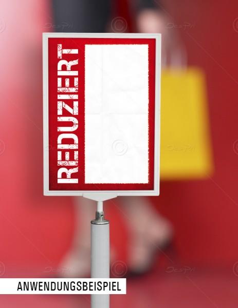 25x Preisschilder, Werbeschilder - Reduziert, mit Textfeld, F0002, Rot