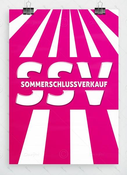 SSV - Sommerschlussverkauf - Plakat DIN A1, pink, P0045A