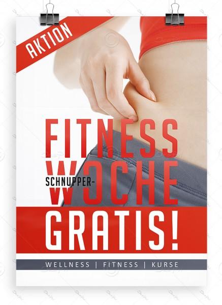 """Despri Werbeplakat """"Fitness Schnupperwoche Gratis"""" DIN A1, P0074, Fitnesscenter"""