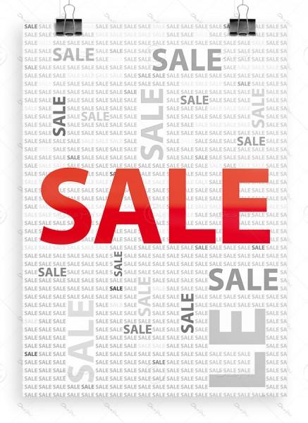 """Werbeplakat """"SALE"""" Poster - P0019, weiß/grau, DIN A1, Ladenausstattung"""