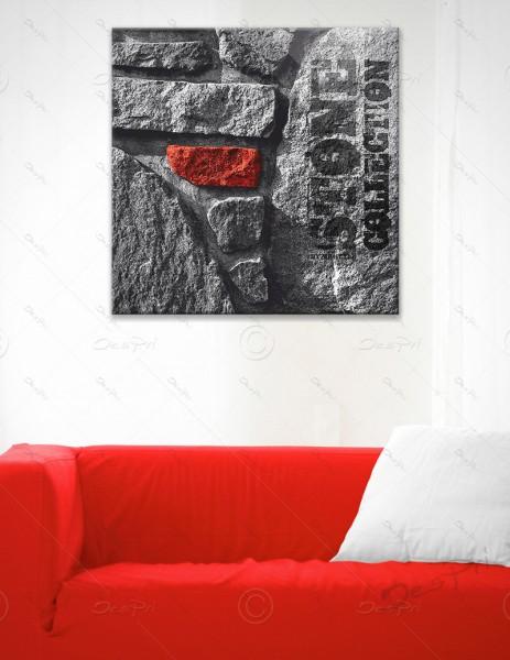 Leinwandbild - Red Stone, Stone collection by MP-STYLE, Keilrahmen, LB0001