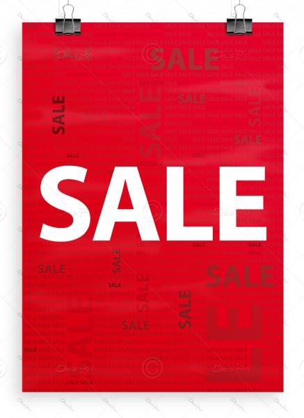"""Werbeplakat """"SALE"""" Poster - P0019A, Rot, DIN A1, Ladenausstattung"""