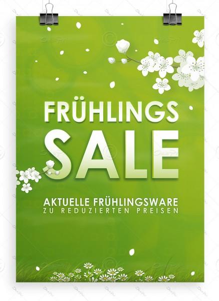 Frühlings SALE - Werbeplakat - Poster, Erbsengrün, P0014, DIN A1