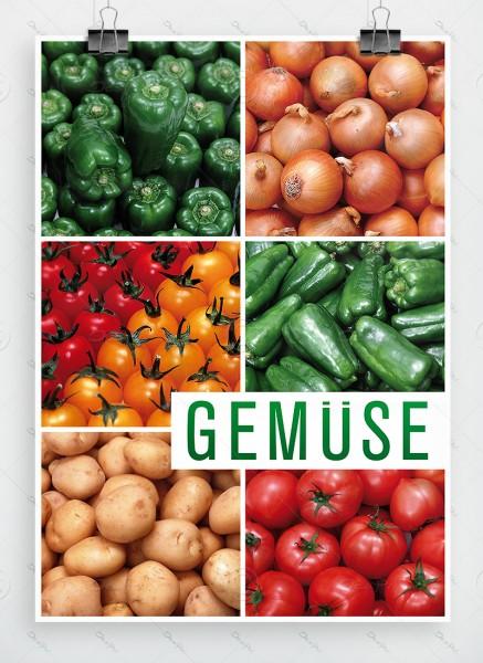 Gemüse - Plakat, Werbeplakat, Poster, DIN A1, P0011