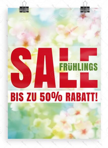 Frühlings SALE - bis zu 50% Rabatt! Werbeplakat DIN A1 by Despri, P0090B