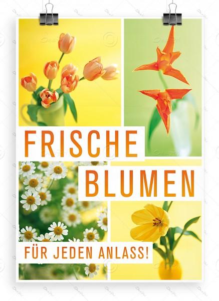 Frische Blumen für jeden Anlass! - Werbeplakat - P0047, DIN A1