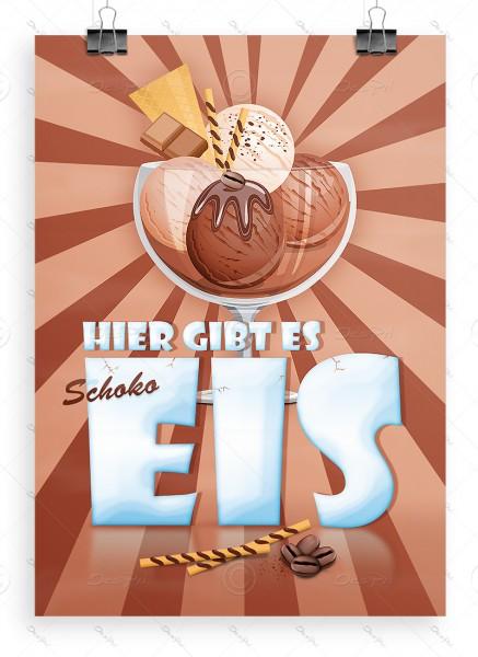 Hier gibt es Schokoeis - Werbeplakat, Poster, DIN A1, P0028A