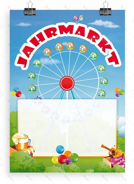 """Despri Werbeplakat """"Jahrmarkt"""" mit Textfeld, Poster, DIN A1, P0044"""